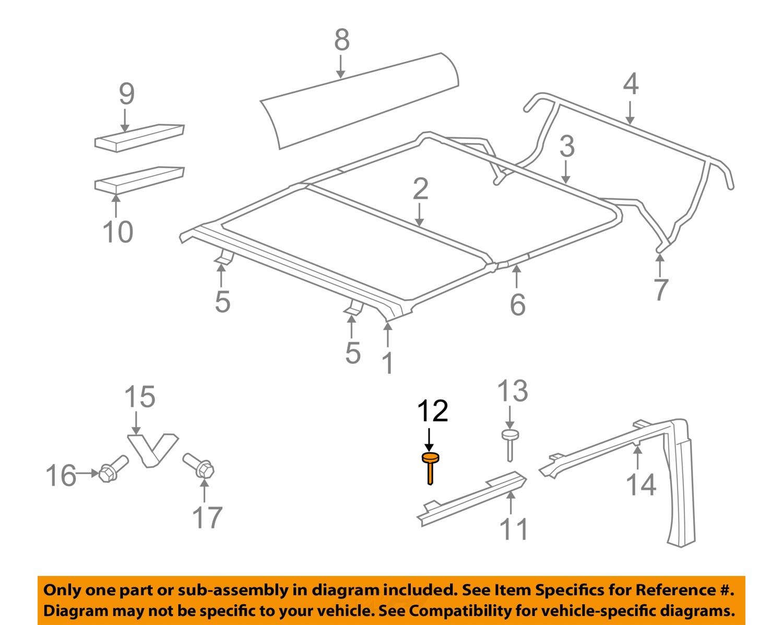 Jeep Wrangler Door Handle Parts Diagram