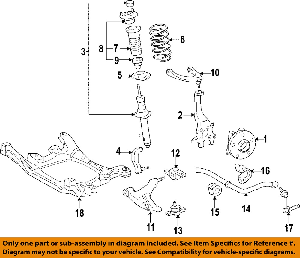 Lexus Toyota Oem 2006 Gs300 Front Suspension