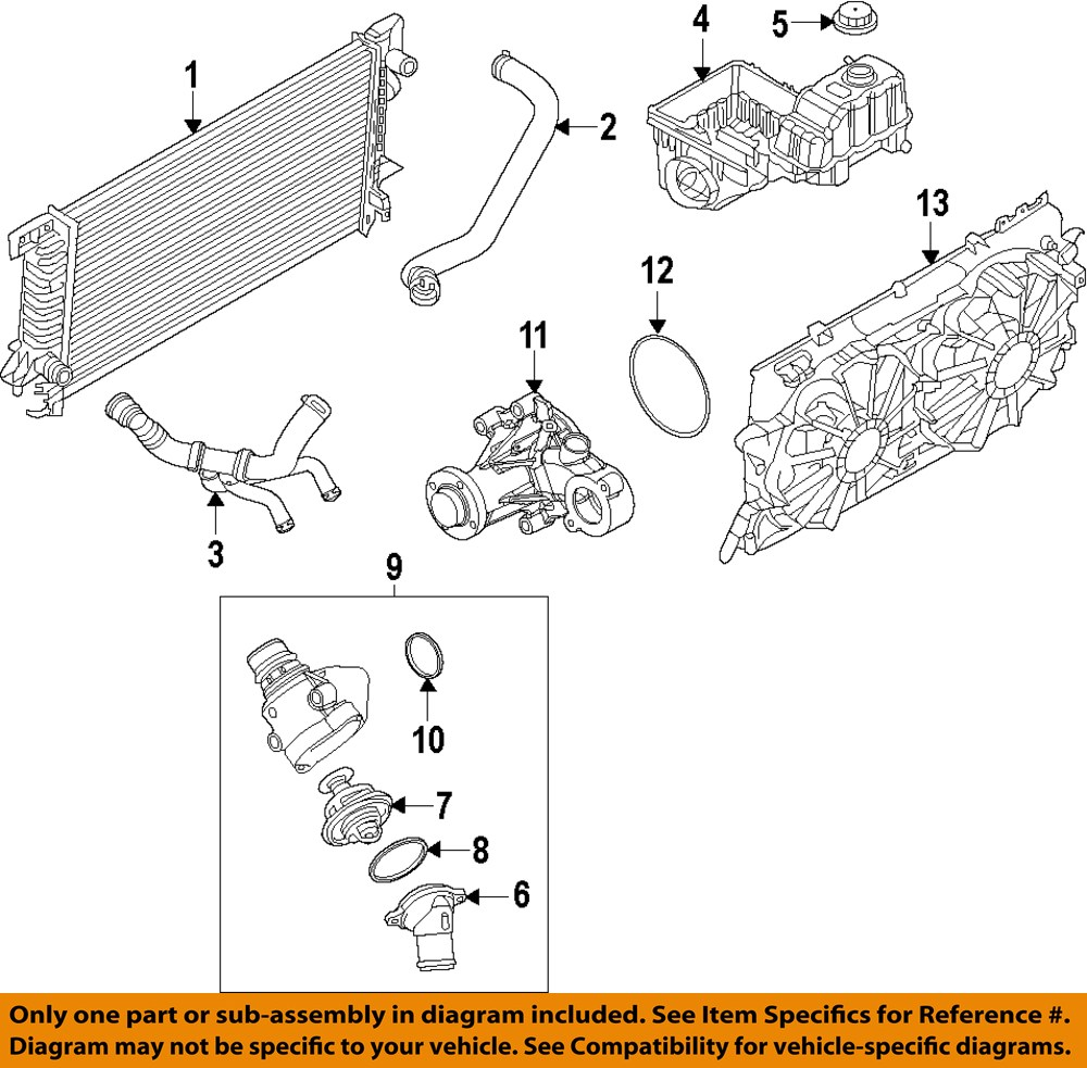 Ford Oem Engine Thermostat Housing Seal Gasket 7t4z