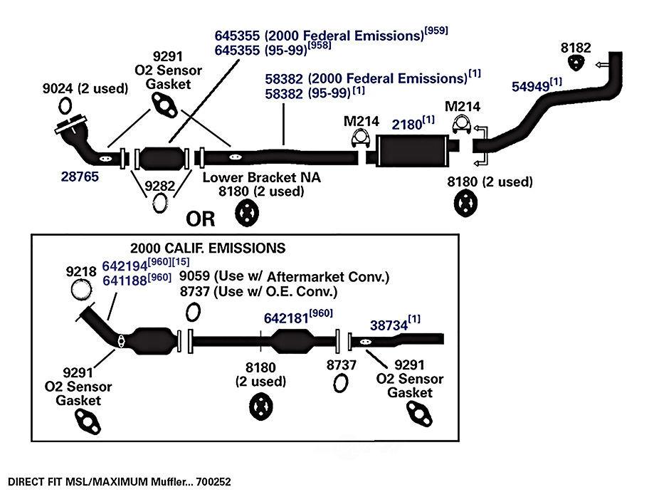 1995 toyota tacoma exhaust system diagram  toyota  auto