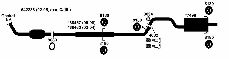 Honda Crv Exhaust Parts Diagram