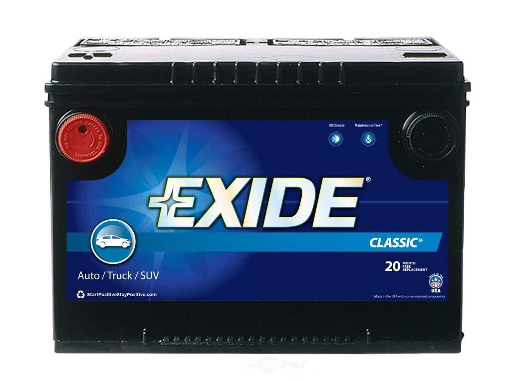 Battery-Exide Classic - CCA: 630 Exide Batteries New 78C ...