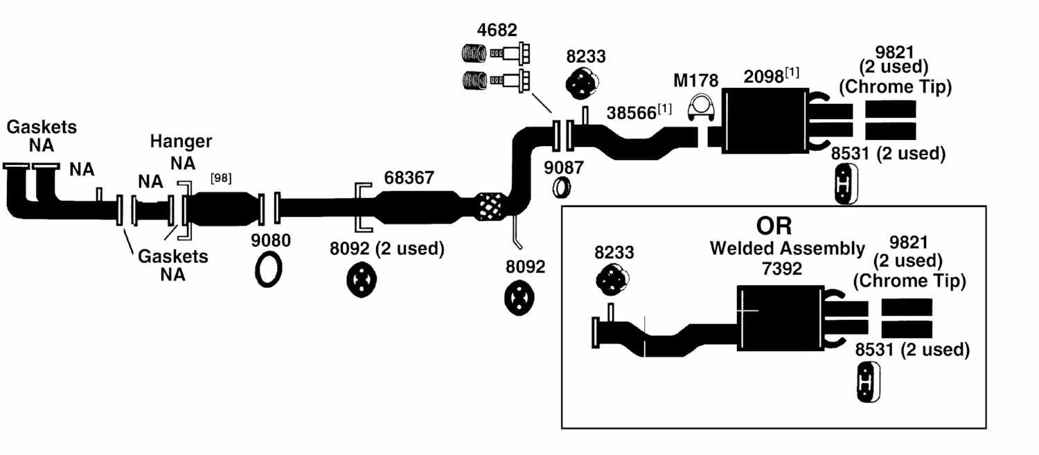 Acura Exhaust System Diagram Wiring Schema Img 2000 Integra Ls Fuse Box 2 3cl From Best Value Auto Parts Walker Diagrams 1998