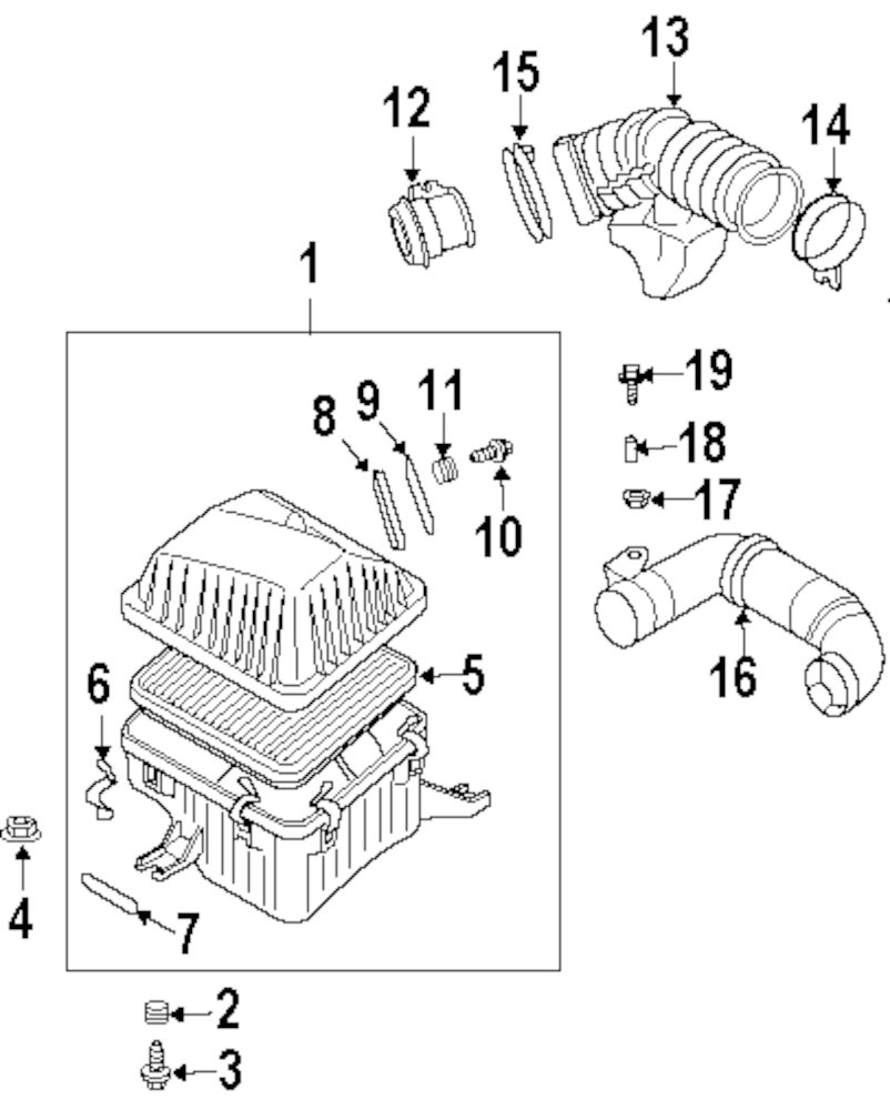 Mopar Direct Parts Dodge Chrysler Jeep Ram Wholesale Retail Kia 2 0 Engine Diagram Genuine Intake Hose Nut 281123e200