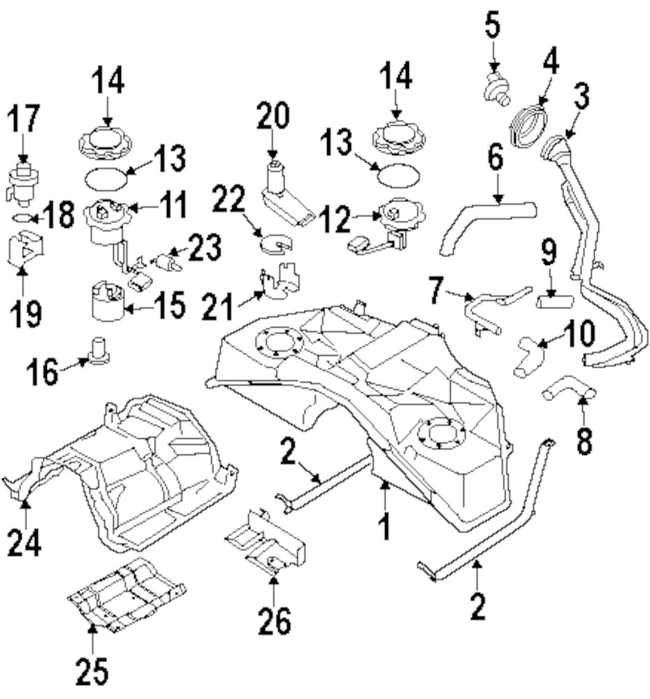 Buy Fuel System Parts For Toyota Rav4 Vehicle Infiniti Pump Diagram Genuine Filler Tube Pocket Inf 17240an000