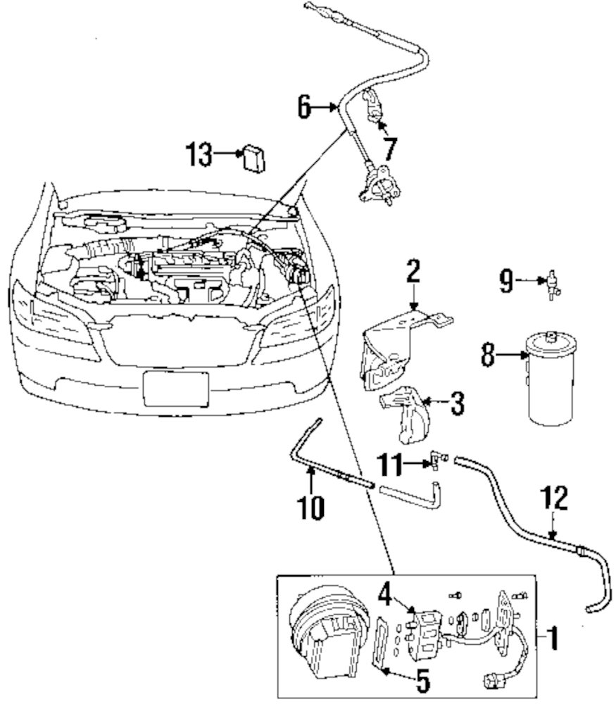 Browse A Sub Category To Buy Parts From Honda Cruise Control Diagram Genuine Pipe Hon 36628paaa00