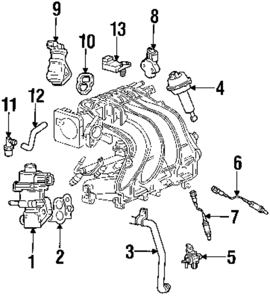 2006 Mazda B2300 Parts 100259 1031 B3000 Engine Diagram Genuine Throttle Sensor Maz 1f2018851