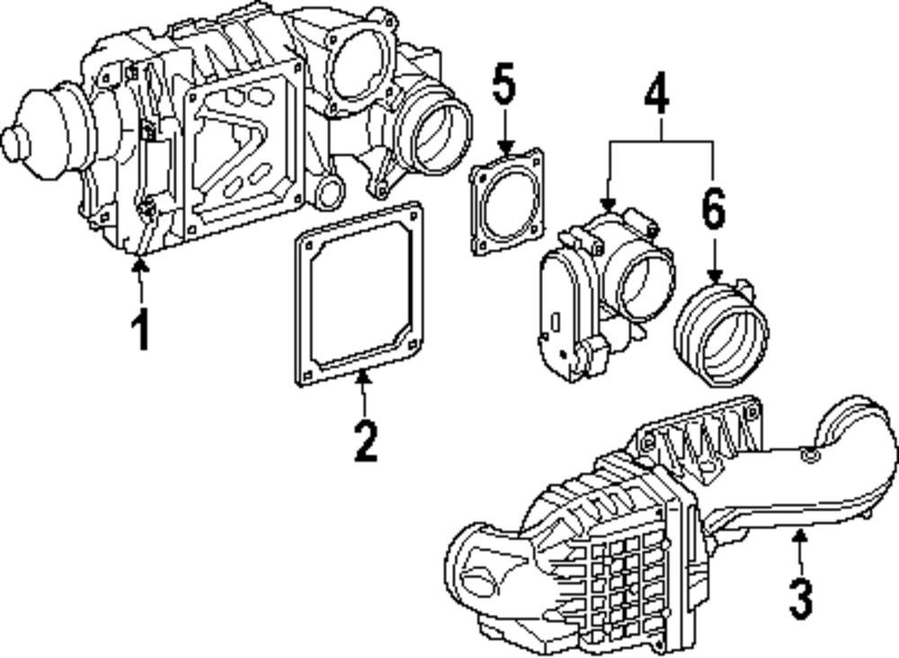 genuine mercedes benz intercooler gasket mbz 2711411280  mopar direct parts  dodge chrysler jeep ram whole retail