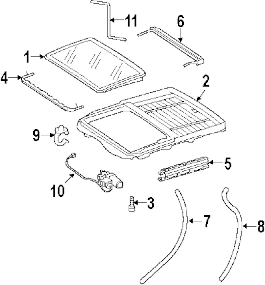 Browse A Sub Category To Buy Parts From 1994 Mercedes C280 Engine Diagram Genuine Benz Sunroof Glass Mbz 2167800021