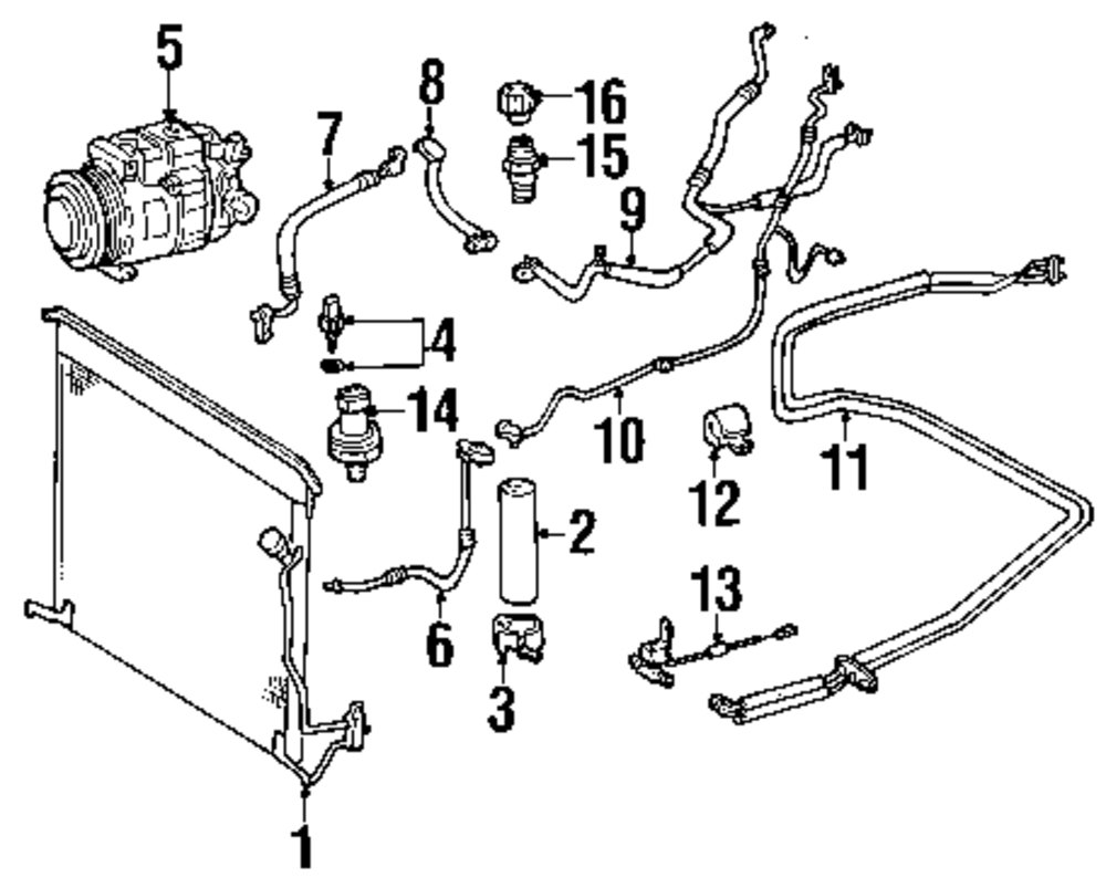 Browse A Sub Category To Buy Parts From Buick Ac Wiring Diagram Genuine Mercedes Benz Line Mbz 1132300456
