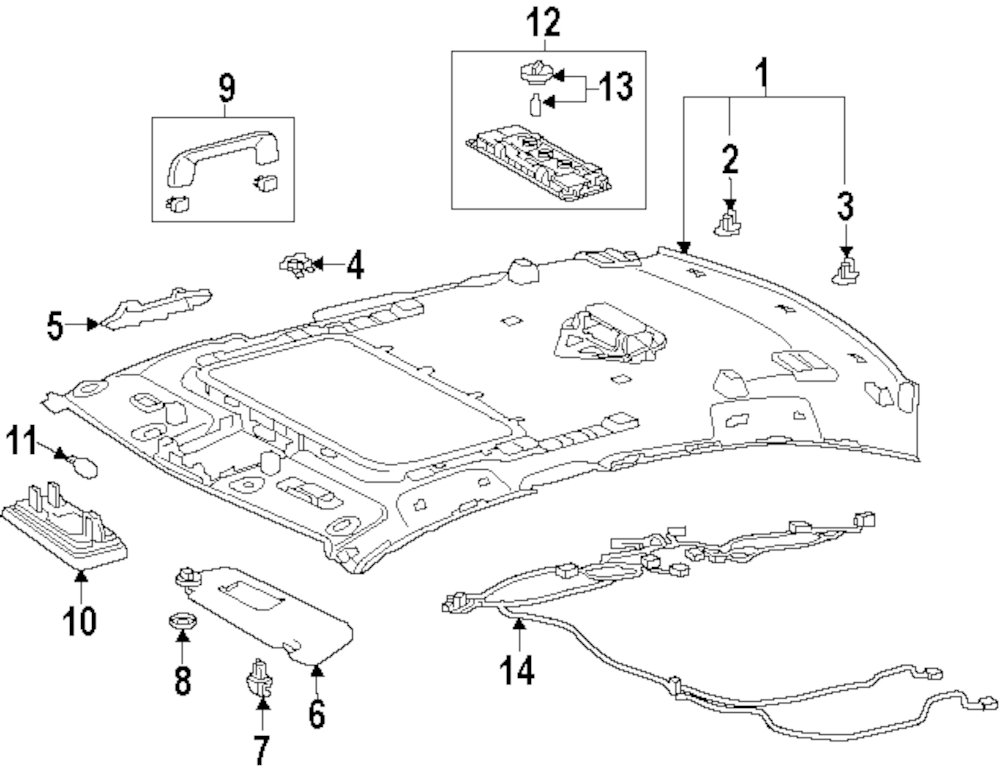lexus interior parts diagram
