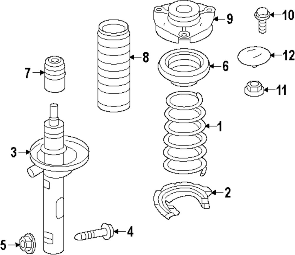 Browse A Sub Category To Buy Parts From 2007 Volkswagen Jetta Front Suspension And Coil Spring Diagram Part Number 5q0411105jf Manufacturer Genuine