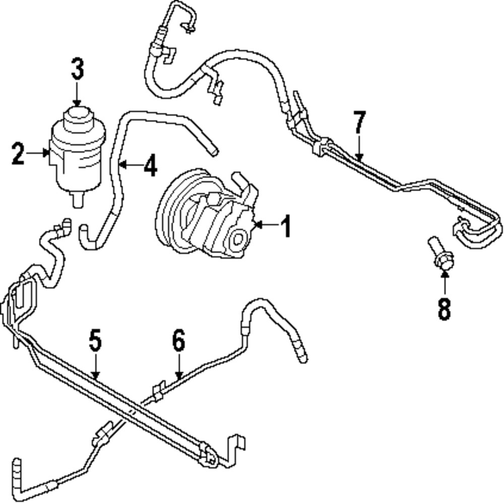 2011 Nissan 370z Pump And Hoses Parts Engine Diagram Genuine Volvo Return Hose Vol 31212153