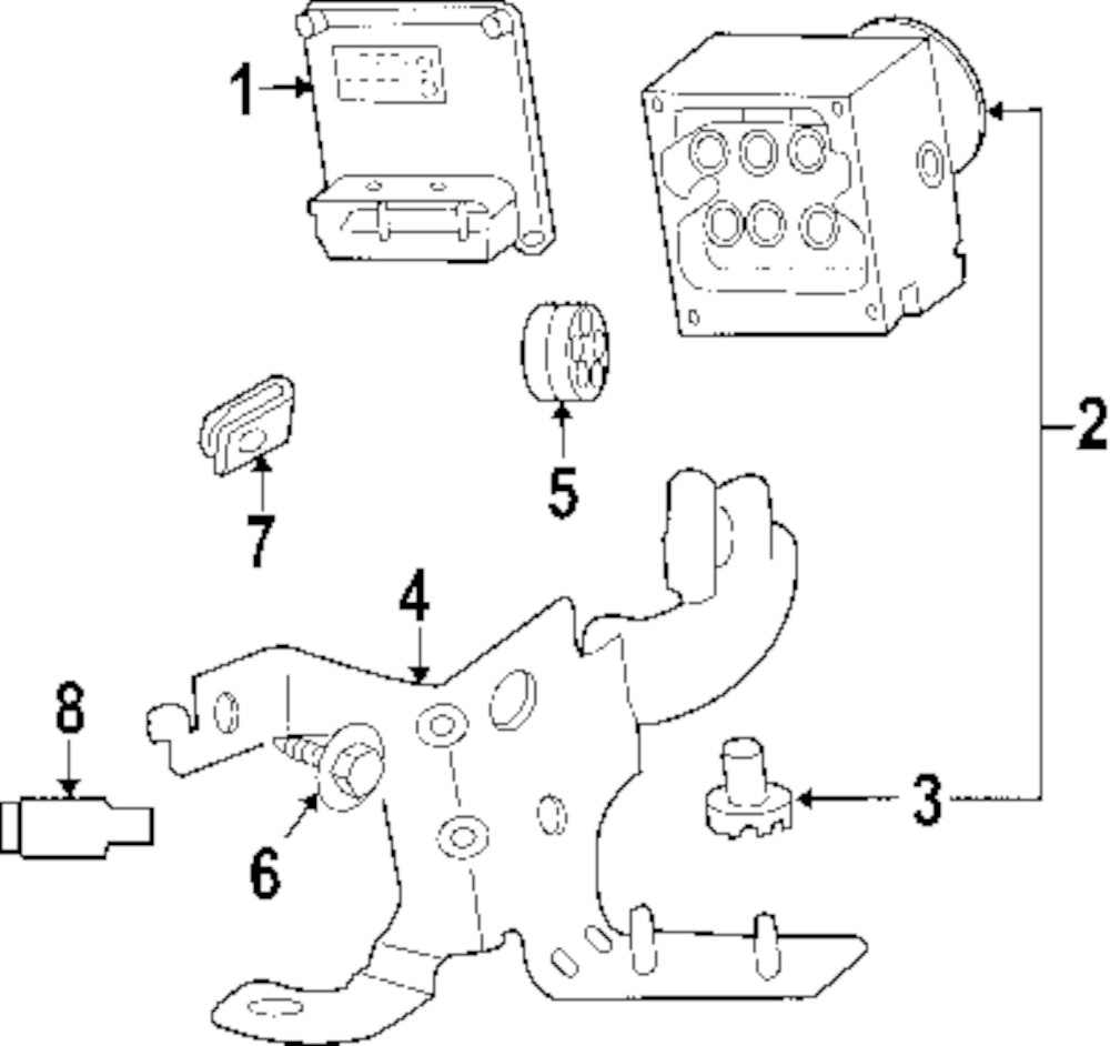 Browse A Sub Category To Buy Parts From This Is Not Real Site Buick Abs Diagram Genuine Mount Bracket Screw Bui 89027160