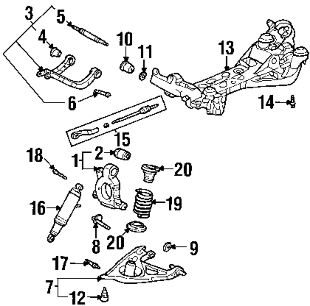 2004 Bmw X3 Fuse Box Diagram Wiring Library 95 Pontiac Bonneville Engine Genuine Shock Stud Pon 15232843