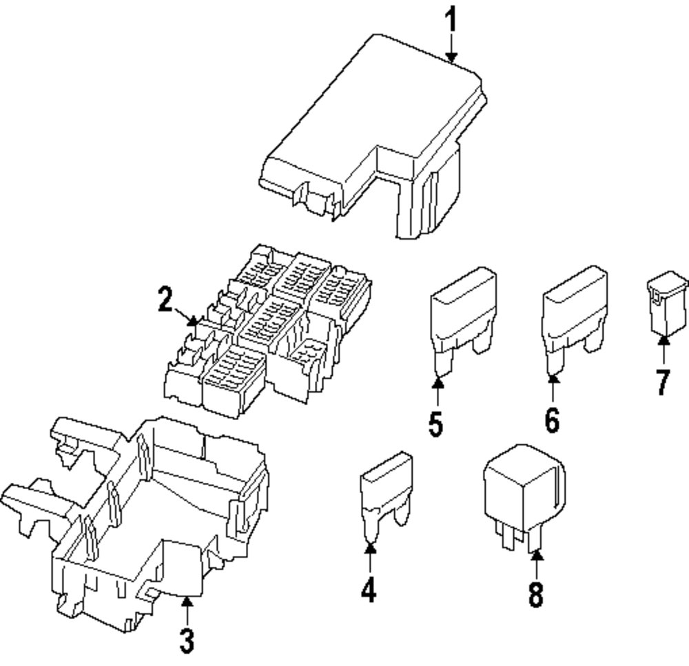 Browse A Sub Category To Buy Parts From This Is Not Real Site Automotive Fuse Box Manufacturer Genuine Ford Top Cover For Fu5z14a003d