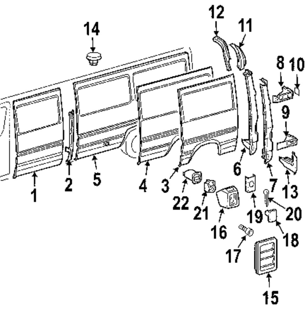 Browse A Sub Category To Buy Parts From 1990 Dodge B150 Wiring Diagram Genuine Rear Outer Pnl Dod 5131158aa
