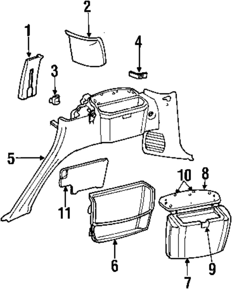 Adsit Company Mercedes Benz Parts Jeep Door Latch Diagrams Genuine Upper Trim Bracket Jee 55196744ab