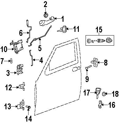 2009 Jeep Liberty Lock And Hardware Parts Door Latch Diagrams Genuine Striker Spacer Jee 4589050ab