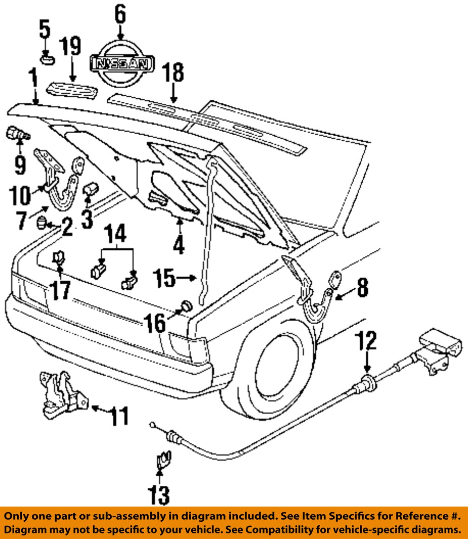 Nissan oem hood support prop rod clip clamp holder 6572201e00 ebay 17 on diagram only genuine oe factory original item sciox Image collections