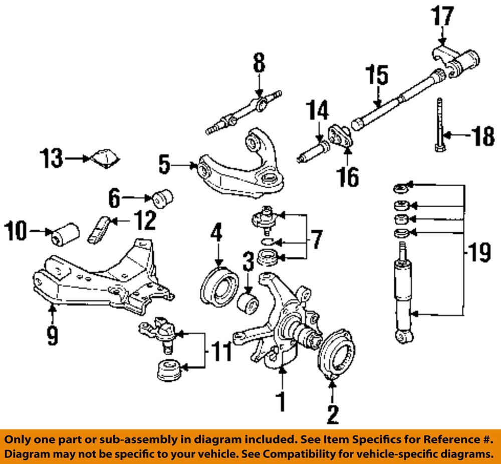 nissan oem 87 95 pathfinder front suspension torque arm. Black Bedroom Furniture Sets. Home Design Ideas
