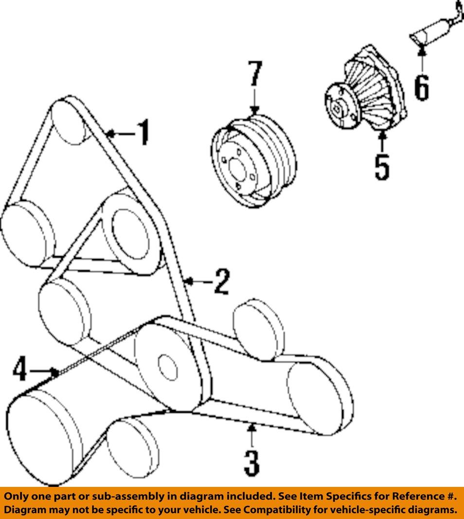 92 Infiniti Q45 Fuse Box Free Download Wiring Diagrams Accord Nissan Oem 00 01 Alternator Belt A17206p002 Ebay At Honda