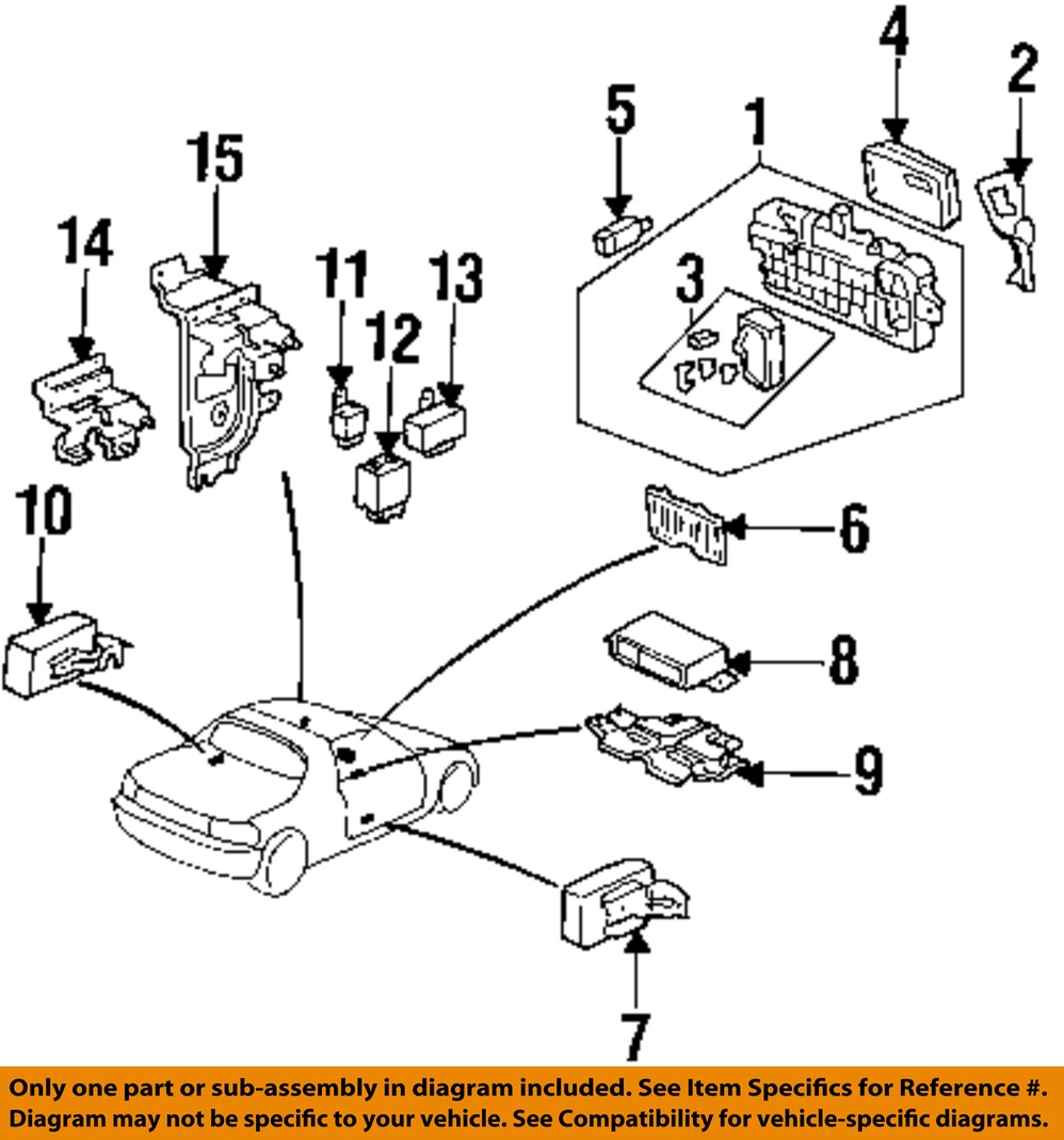 95 honda civic parts diagram honda oem 92-95 civic on apron-electrical-main relay ... 95 honda civic fuse box diagram