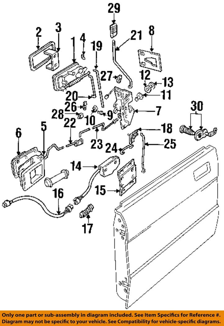 LAND ROVER OEM 95-98 Discovery Front Door-Lock Actuator Motor ...
