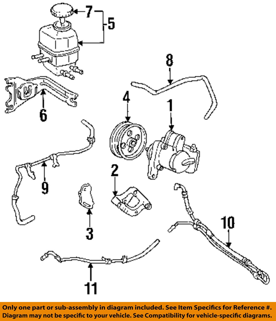 Toyota Oem 92 96 Camry Power Steering Reservoir Hose 4434833070 Engine Diagram 1 Of 2free Shipping 44348 33070