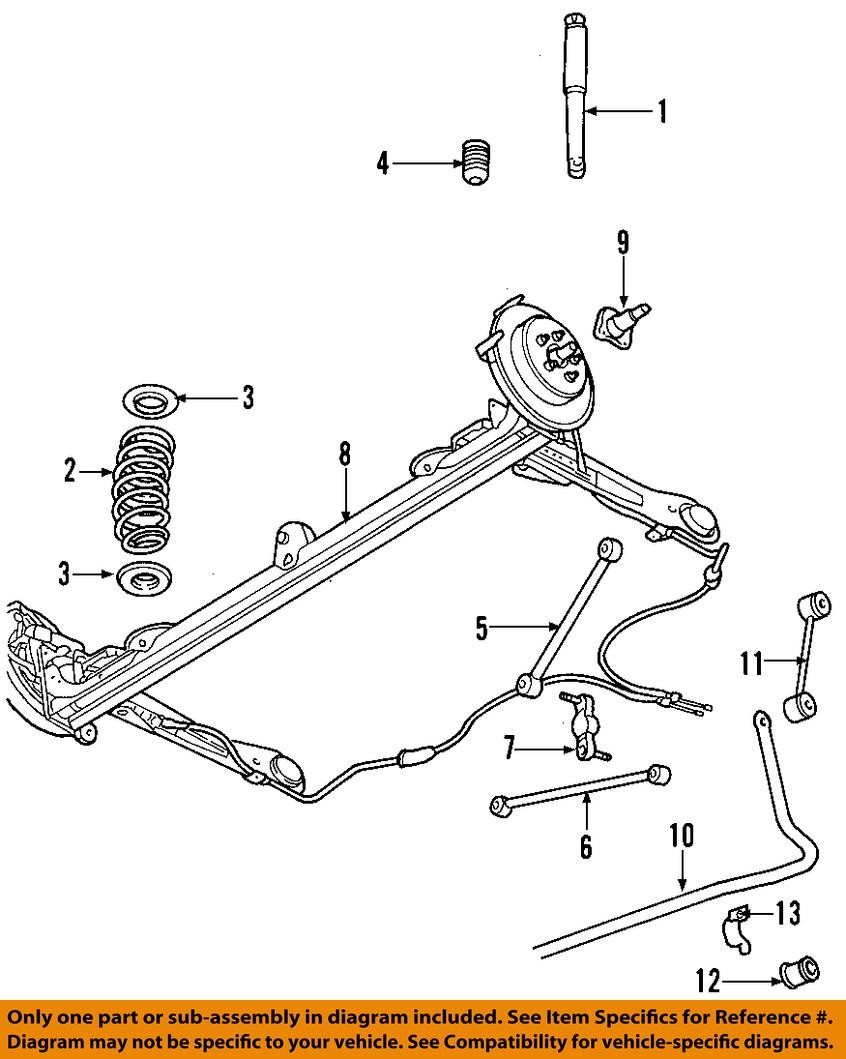 2004 Pt Cruiser Suspension Diagram Wiring Library 200 Engine Chrysler Oem 08 10 Rear Axle Assy 4656440an Ebay Rh Com Ac