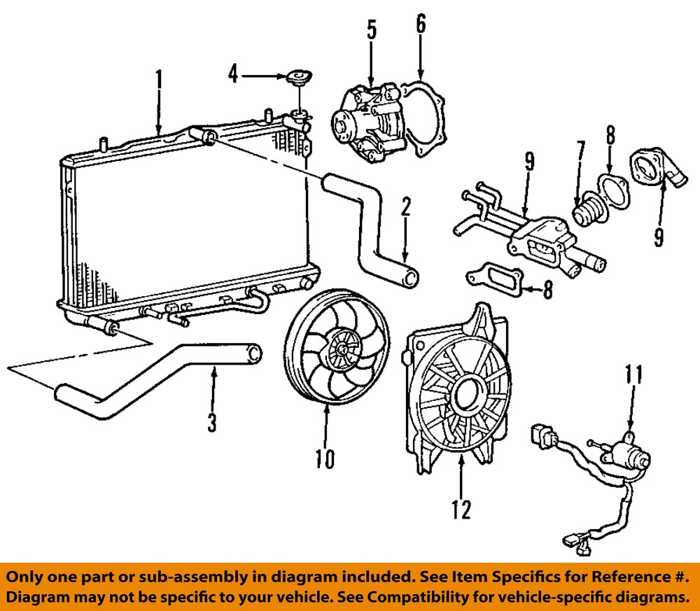 2001 Hyundai Elantra Engine Diagram Thermostat Schematics Wiring Fuse Box Map Oem 01 12 Coolant 2003 Parts