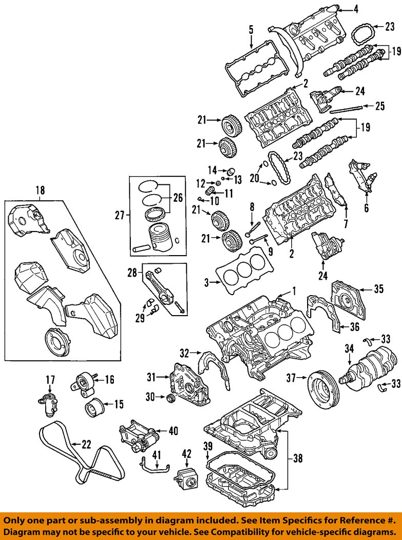 audi oem 98 01 a6 quattro engine valve cover 078103472r ebay rh ebay com Audi A4 Parts Diagram 2004 Audi A4 Air Diagram
