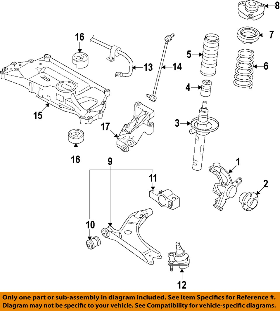 Vw Volkswagen Oem 05 14 Jetta Front Suspension Bracket 1k0199296j Ebay 2007 Rabbit Engine Diagram 17 On Only Genuine Oe Factory Original Item