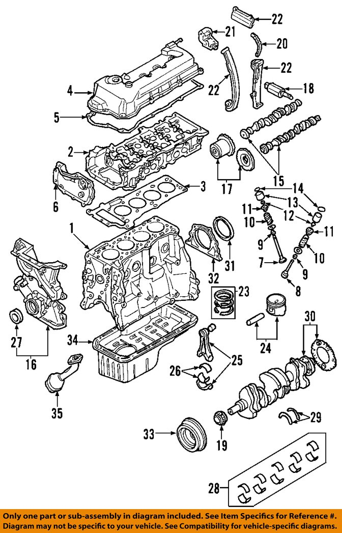 OEDIAG2_F600048 nissan oem 02 06 sentra engine timing chain guide 130914m500 13091 1994 nissan sentra engine diagram at readyjetset.co