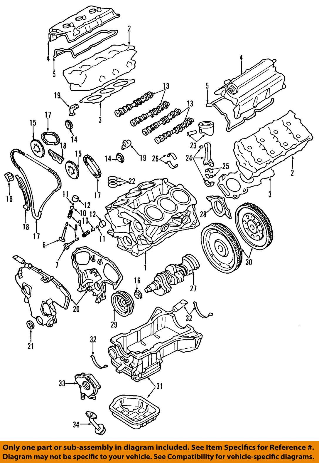 1998 Nissan Quest Engine Diagram Basic Guide Wiring 96 Oem 04 09 Timing Cover 135007y00b Ebay Rh Com 2004 2000 Parts