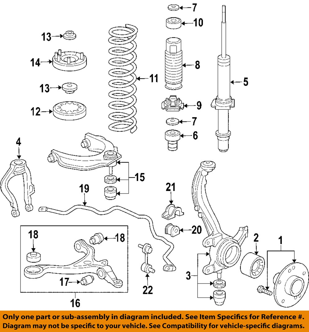 Acura Honda Oem 04 06 Tl Lower Control Arm Front Inner