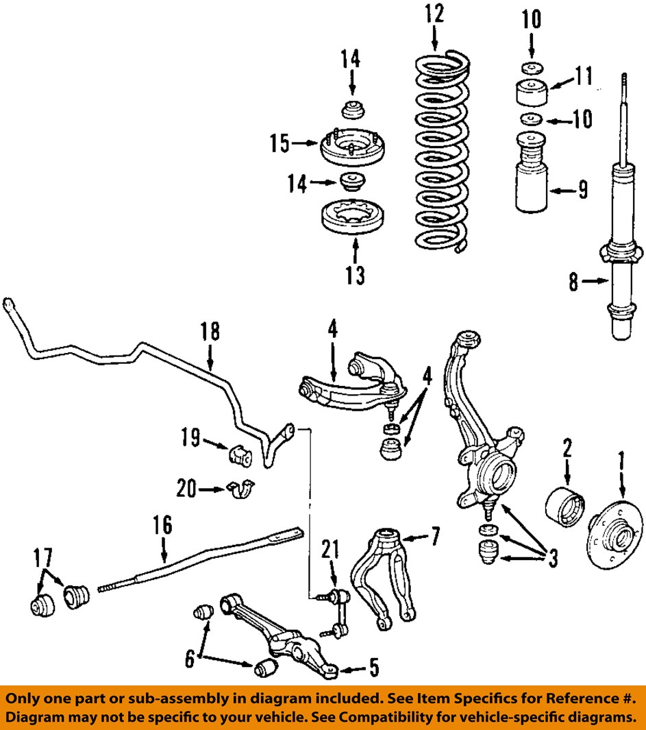honda acura oem accord tl cl front left upper control arm 51460 s84 rh ebay com acura mdx suspension diagram acura mdx suspension diagram