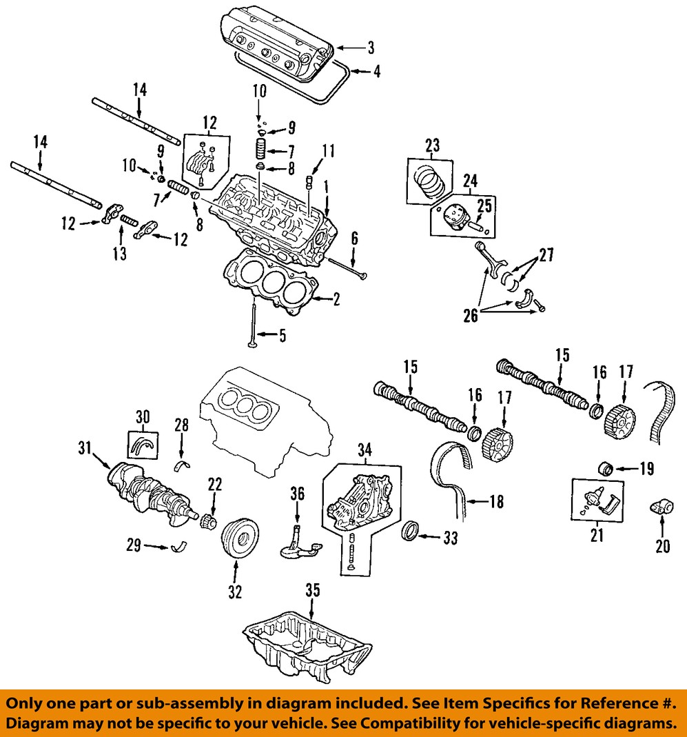 Acura Honda Oem Engine Parts