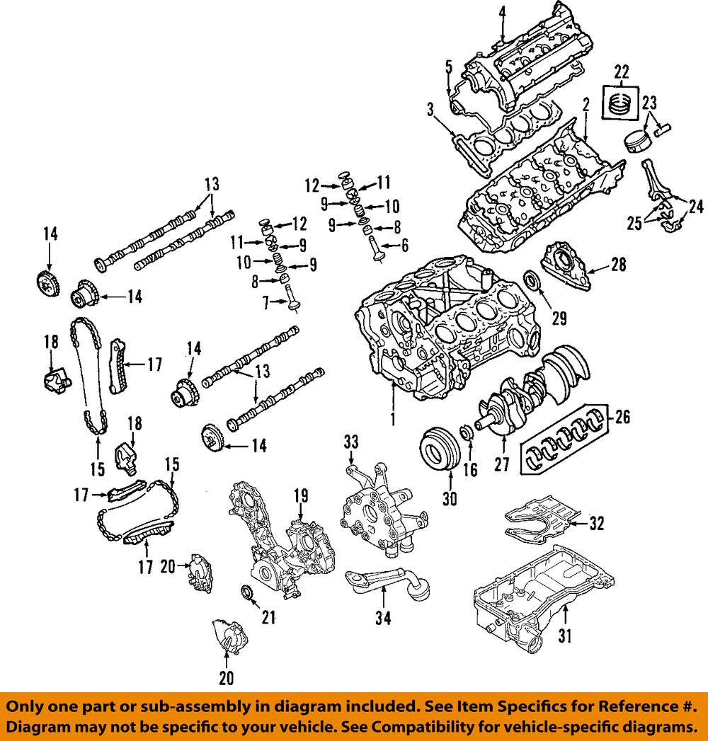 Nissan Armada Engine Diagram Worksheet And Wiring 2004 Oem Valve Cover 132647s000 Ebay Rh Com Pathfinder 2005