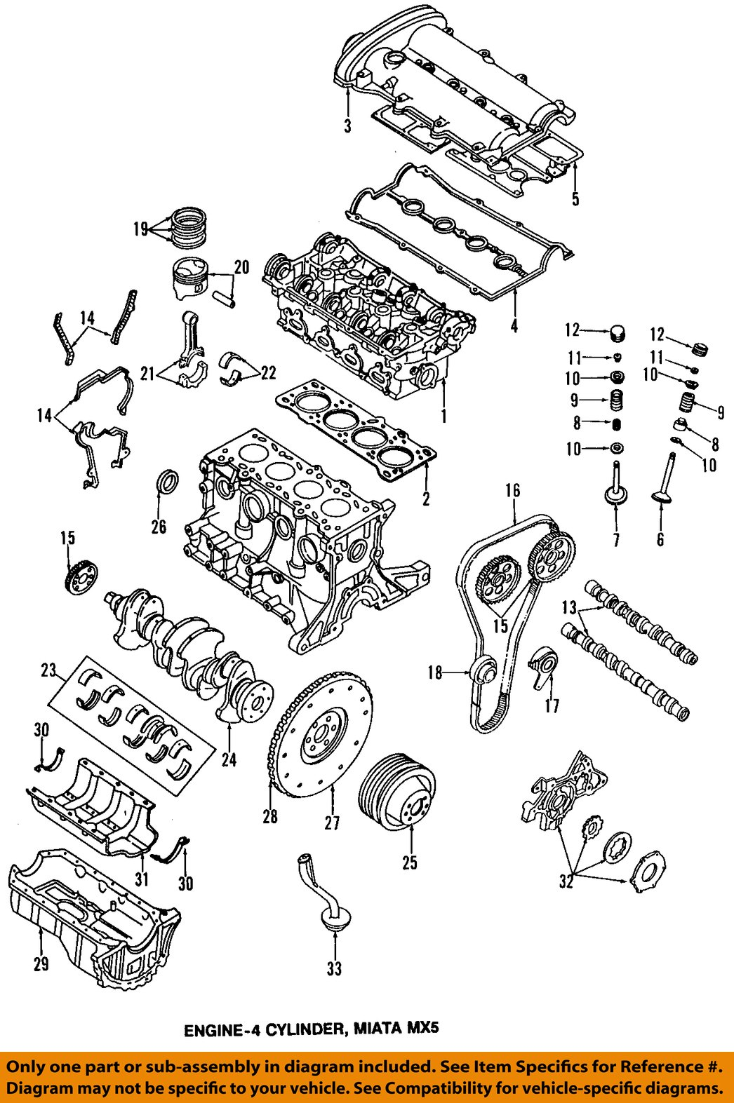 Mazda Oem 90 97 Miata Engine Oil Pan Gasket B6f410428 Ebay