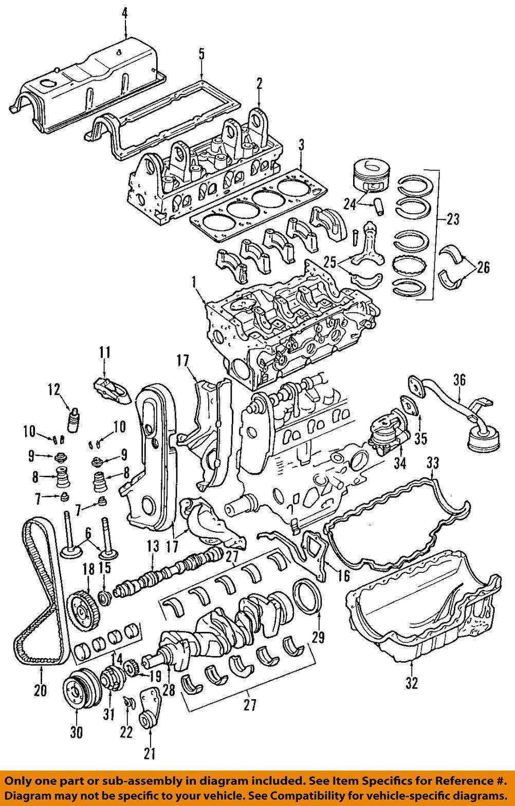 mazda oem 98 01 b2500 engine connecting rod bearing zzp011225 ebay rh ebay com 2001 mazda b2500 engine diagram mazda b2500 engine diagram