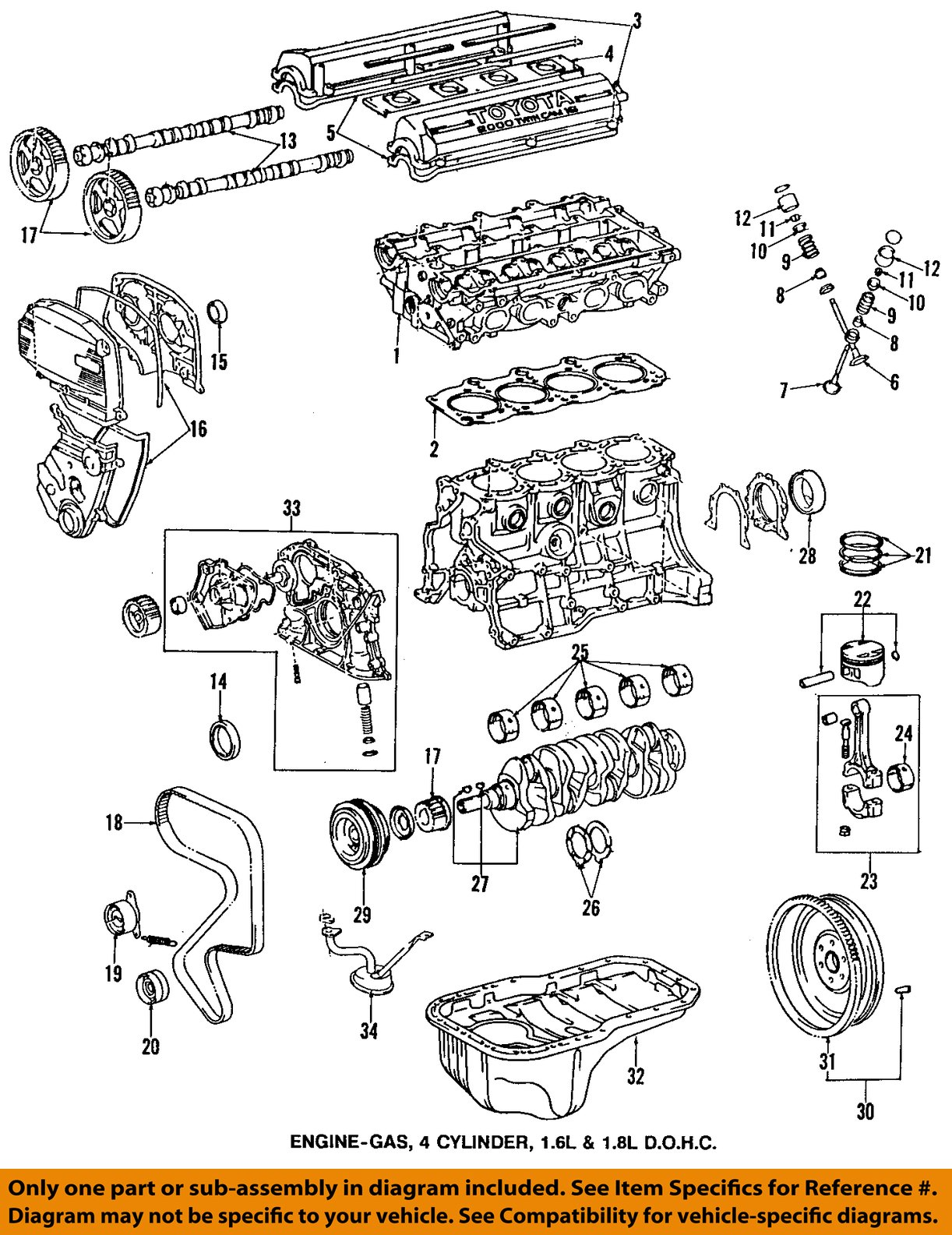 OEDIAG2_F800045 toyota oem 95 97 corolla engine timing gear sprocket 1352116050 ebay toyota corolla engine diagram at aneh.co