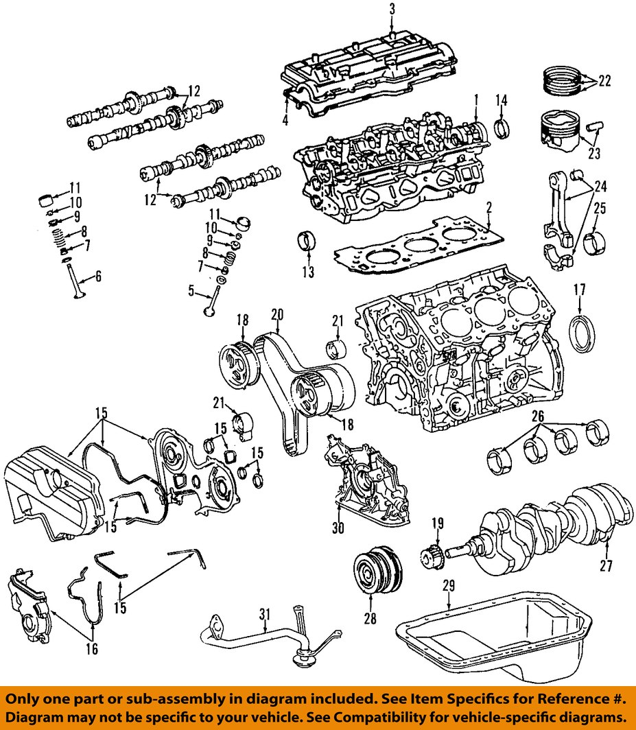 1994 Toyota Engine Diagram Manual Of Wiring Camry 93 Oem Crankshaft Crank Seal 90311 A0027 Factory Various Rh Ebay Com 4runner 22