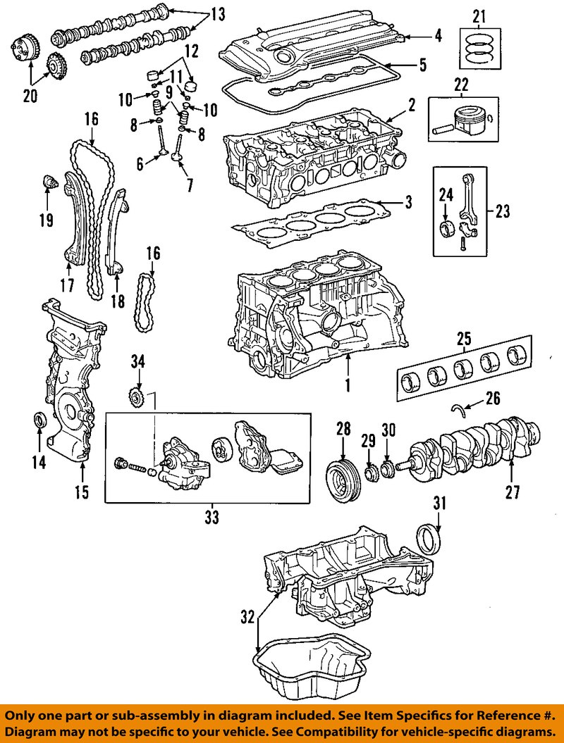 2001-2003 toyota rav4 right engine timing camshaft gear rh ... 2003 toyota rav4 engine diagram 2007 toyota rav4 engine diagram