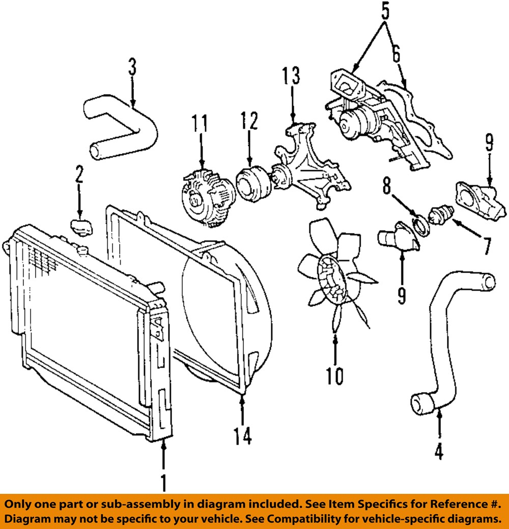 2000 Toyota Tundra Engine Diagram Simple Guide About Wiring Schematic Oem 00 02 Radiator Upper Hose 165710f010 Ebay 47