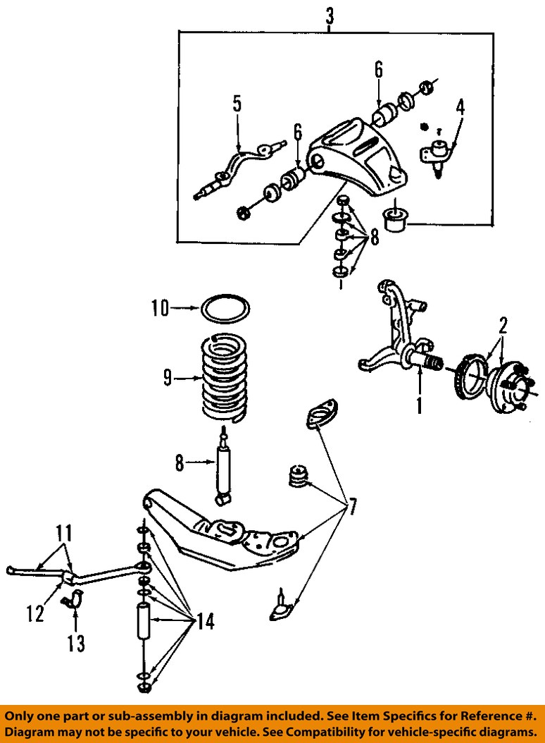Lincoln ford oem 98 02 town car front suspension shock absorber 8 on diagram only genuine oe factory original item pooptronica