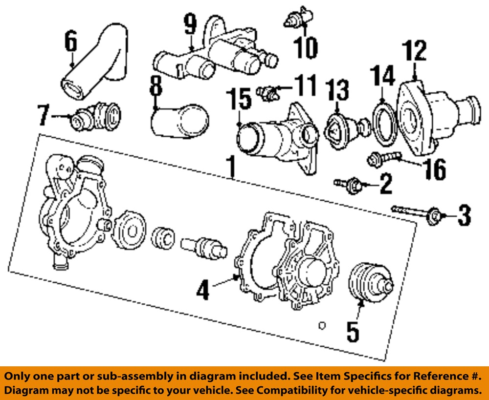Ford Oem Water Pump Housing F5rz8k528cc Ebay Lincoln Ls V6 Engine Diagram 15 On Only Genuine Oe Factory Original Item
