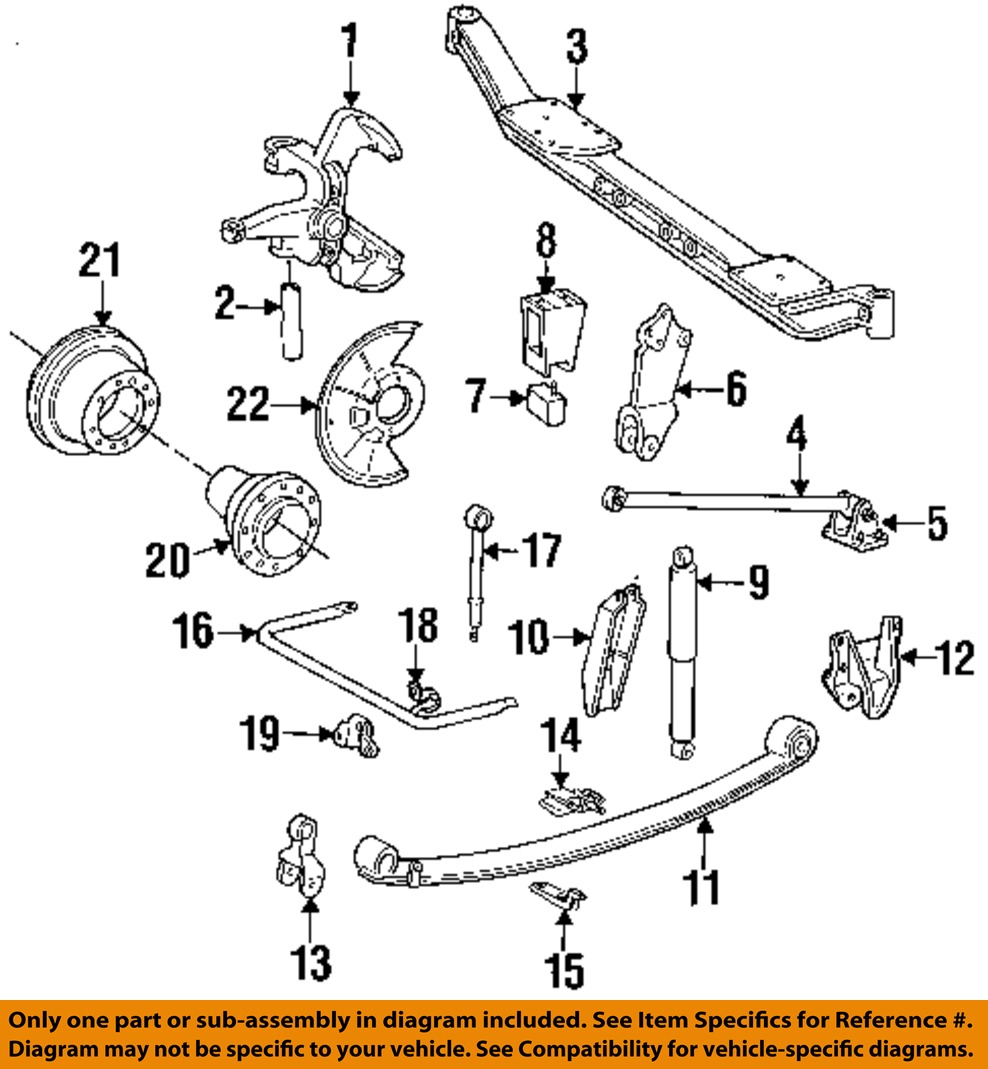 Ford oem 92 97 f super duty front suspension king pin e8tz3111a ebay 2 on diagram only genuine oe factory original item sciox Images