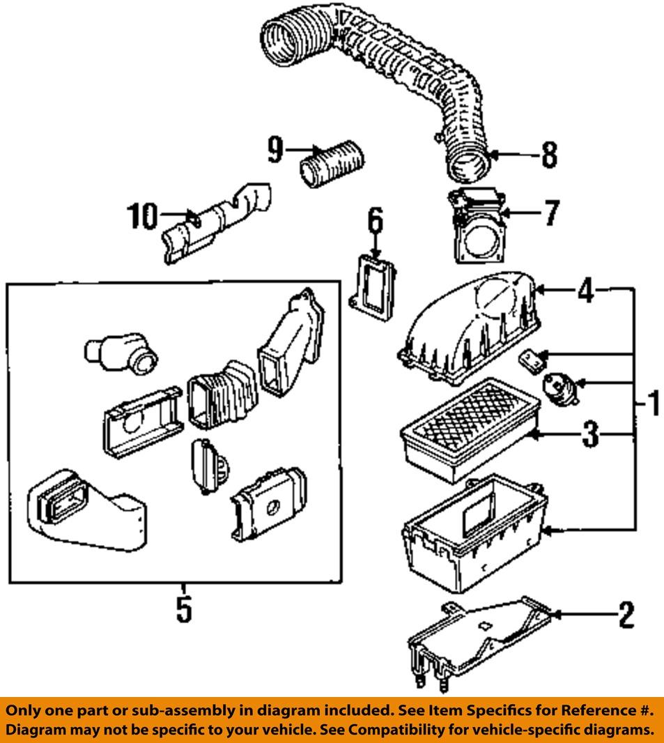 Air Cleaner Diagram : Ford oem ranger l v air cleaner intake