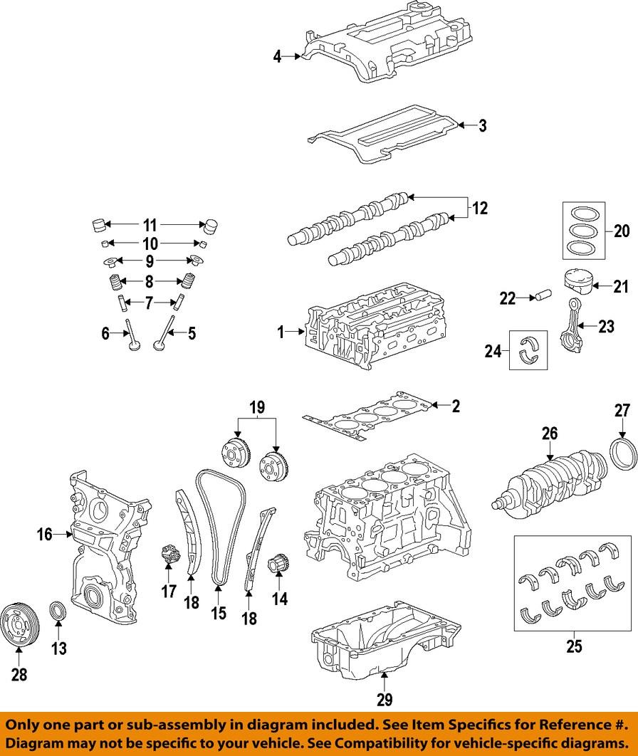 Chevrolet Gm Oem 13 15 Spark Valve Cover Gasket 25183348 Ebay Cruze Engine Diagram 4 On Only Genuine Oe Factory Original Item